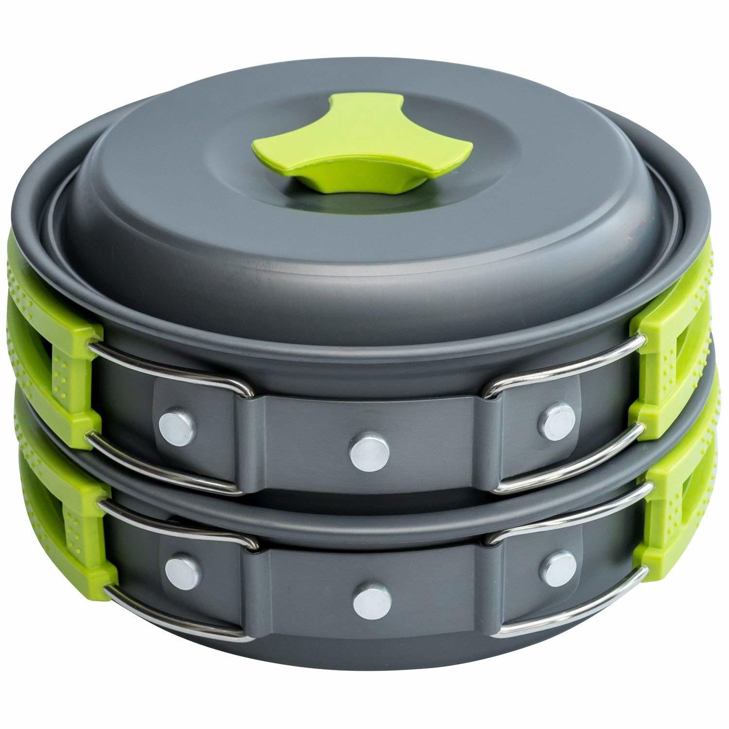 Liter Camping Cookware Mess Kit Backpacking Gear