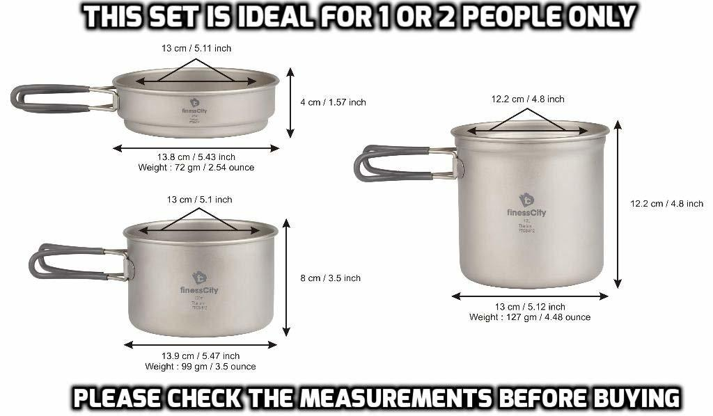 Titanium Camping Cookware Sizes